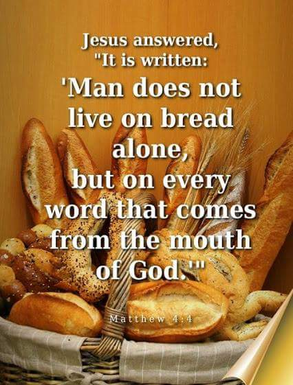 Man Does not live by bread alone