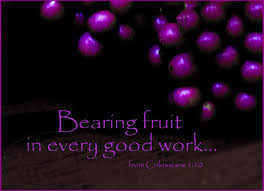 bearing fruit in every good work